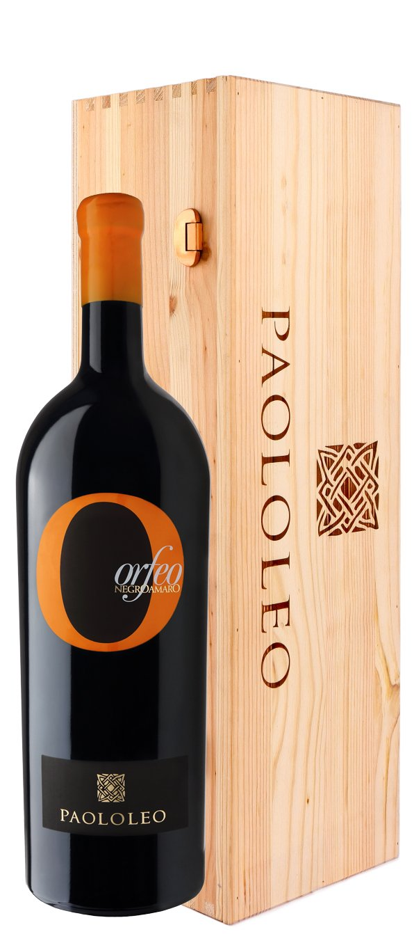 Orfeo Negroamaro IGT wooden box 5 l